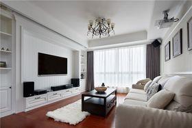 120平米三室一厅现代简约风格客厅图片