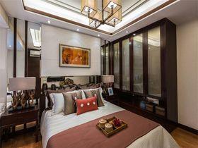 100平米三室一厅中式风格卧室设计图