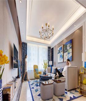 80平米三室两厅田园风格餐厅装修图片大全