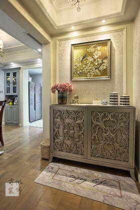140平米三室两厅美式风格玄关装修图片大全