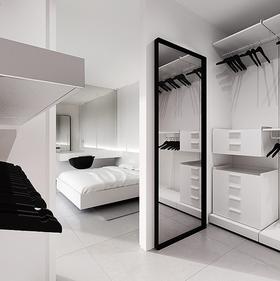 10-15万110平米三室两厅现代简约风格卧室装修案例
