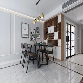110平米三室两厅北欧风格餐厅装修图片大全