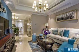 富裕型130平米三室一厅现代简约风格客厅装修图片大全