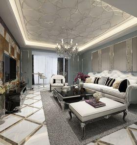豪华型140平米三室两厅现代简约风格客厅图片大全