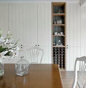 140平米三室两厅美式风格餐厅图片
