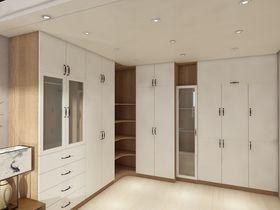 140平米四室一厅现代简约风格衣帽间鞋柜装修效果图