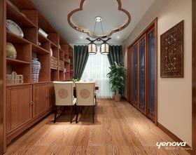 90平米三室两厅中式风格书房装修效果图