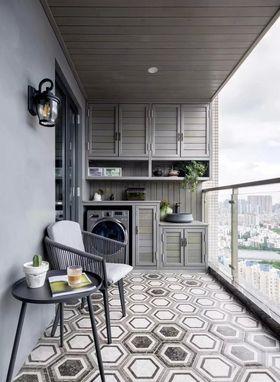 120平米三室两厅美式风格阳台图片大全