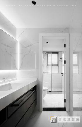 140平米三室两厅现代简约风格卫生间图片