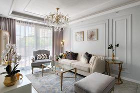 90平米复式法式风格客厅装修案例