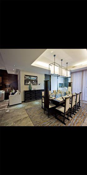 10-15万130平米三室两厅现代简约风格餐厅图片
