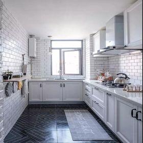 110平米三室两厅北欧风格厨房设计图