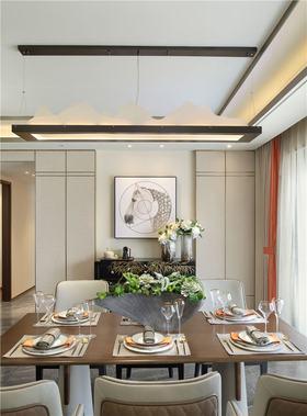 70平米現代簡約風格餐廳圖片