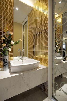 120平米公寓现代简约风格卫生间图片大全