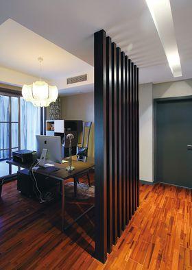 120平米三室两厅现代简约风格书房装修效果图