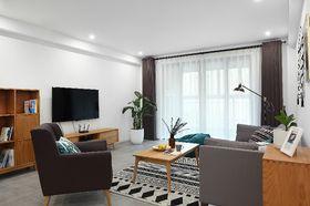 100平米三室两厅现代简约风格客厅装修效果图