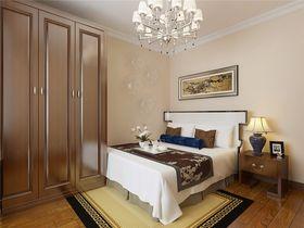 富裕型90平米一室一厅现代简约风格卧室图