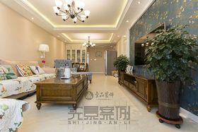 120平米三室一厅现代简约风格客厅装修案例