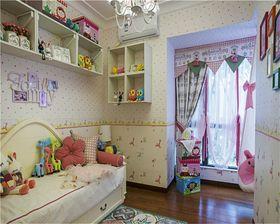 富裕型100平米三室两厅田园风格儿童房装修效果图