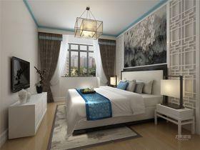 50平米小户型中式风格卧室效果图