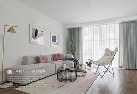 130平米三室两厅北欧风格客厅设计图