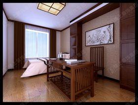 富裕型140平米四室两厅中式风格书房装修案例