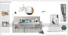 140平米三室三厅北欧风格卧室设计图