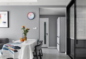 80平米三室两厅现代简约风格餐厅图