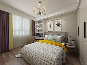 120平米三室一厅现代简约风格卧室图片大全