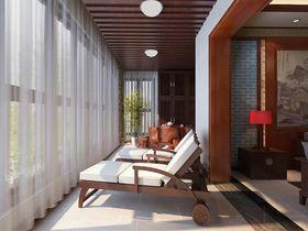 140平米四室四厅中式风格阳台图片
