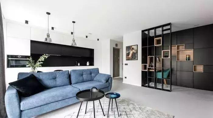 48平米,巧妙家具划分功能区,让空间更加美观且实用!