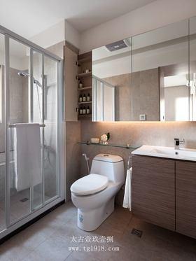 富裕型120平米三室两厅现代简约风格卫生间图片大全