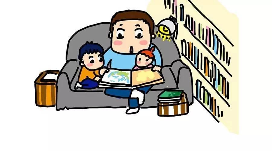 客厅变书房,让孩子泡在书的世界里【漫画】