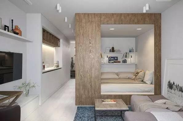 好的房子设计不在于面积大小而是功能区的设计,精致且小而美的小户型是很多年轻人喜欢的,就比如我家这个30平米的新家,这样改造后不比100平米的房子差,特别是我在客厅加了个隔断墙竟相当于厨房和卧室两个房间了。