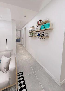 80平米三室两厅北欧风格走廊装修案例