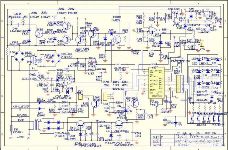 求个尚朋堂电磁炉电路图