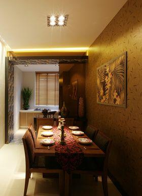 120平米三室两厅东南亚风格餐厅图片大全