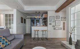 110平米三室一厅现代简约风格客厅图片大全