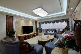 140平米四室三厅法式风格客厅装修效果图