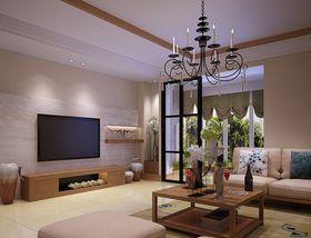 130平米现代简约风格客厅设计图