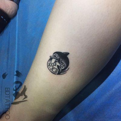 小海豚纹身款式图