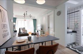 80平米三室两厅北欧风格餐厅欣赏图
