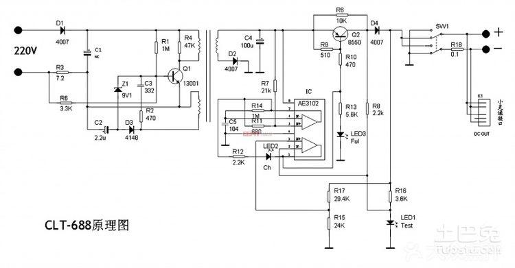 手机直充充电电源电压为5v的,usb也是输出5v的,你可以用4节干电池(6v