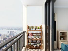 80平米复式现代简约风格阳台欣赏图