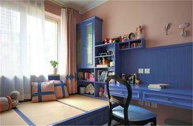 富裕型110平米三室一厅地中海风格儿童房装修图片大全