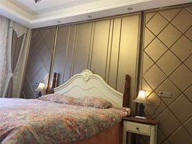 经济型140平米三室一厅美式风格卧室图片大全
