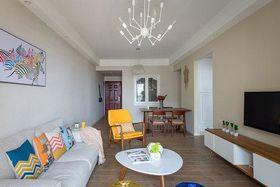 富裕型120平米三室两厅混搭风格客厅图