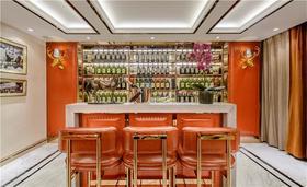 富裕型120平米三室两厅美式风格餐厅设计图