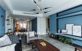 富裕型140平米三室两厅混搭风格客厅欣赏图