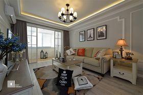 5-10万80平米美式风格客厅图